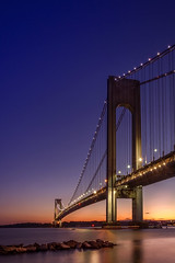 Sunset time (Marchelo13) Tags: bridge sunset sky sun ny clouds nycatnight newyorksunset
