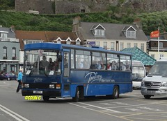 Tantivy 12 (Coco the Jerzee Busman) Tags: uk blue bus islands coach camo renault cannon jersey swift dennis tours dart channel leyland lcb plaxton tantivy