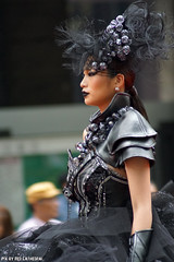 Hankuyu Midosuji Runway (Red Cathedral [FB theRealRedCathedral ]) Tags: sonyalpha a77markii a77 mkii eventcoverage cosplay alpha sony larp sonyslta77ii slt evf translucentmirrortechnology ocr redcathedral contemporaryart streetphotography alittlebitofcommonsenseisagoodthing japan nippon nihon osaka kansai tempel scyscraper temple wolkenkrabber gratteciel japon fall autumn automn herfst leaves maple ginkgo colours red yellow geel rood coleur color wanderlust travel travelling november digitalnomad coloursoffall architecture shrine shinto buddist thelandofopposites asia voyage voyagedetective buddhist international japanairlines midosuji hankuyu model asian girl photomodel runway catwalk modelling skinny scifi fantasy costumes fashion design