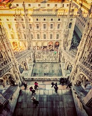 Terrace (CiccioNutella) Tags: milano milan duomo cathedral terraces architecture unesco gothic italy italia people vertical crop snapseed smartphone sony xperia sonyz3 perspective terrazza roof