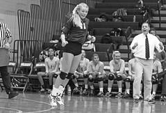IMG_8365 (SJH Foto) Tags: girls volleyball high school york delone catholic team teen teenager libero coach cheer black white blackandwhite bw monocolour