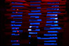 nursery lightsculpture IV (genelabo) Tags: blue edited nursery light sculpture licht installation art genelabo effect artistic kunst pattern abstract texture bright indoor minimalism diagonal depth field lightroom sony 6300 35mm black background