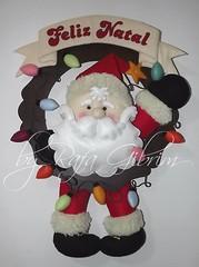 Guirlanda de natal Papai Noel com luzinhas (Feito a mão [by Rafa]) Tags: feltro fieltro felt rafagibrim fofo cute enfeite presente lembrança artesanato natal papainoel guirlanda guirlandanatalina