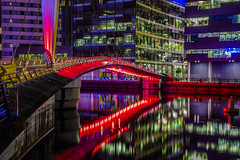 Salford Quays (graemecave) Tags: salfoed quays docks water night lights bridge long exposure manchester canon5dmk111 colours 24105l