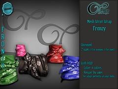 "Mesh Wrist Wrap ""Fronzy"" V#3 Bandana (..:: OPOPOP Design ::..) Tags: opopop hud colors cam bandana unisex bracelet secondlife wrist wrapped"