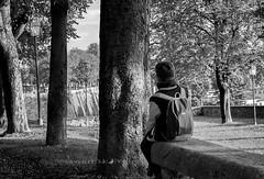 Alone (Sole pg) Tags: bergamo italia soledad banco niño