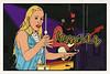 WUCAN (Howdys) Tags: musik rock hard retro deutsch deutschland konzert comic art wucan musiker frau girl blond jeans jacke theremin gitarre mikrofon neunte kunst