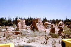 Desert from The Mine Train Through Nature's Wonderland (Tom Simpson) Tags: vintage disney vintagedisney disneyland vintagedisneyland desert minetrain minetrainthroughnatureswonderland frontierland 1960s
