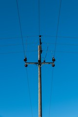 Cable Junction (Number Johnny 5) Tags: lines tamron d750 nikon wires angles cable telegraph pole communication abstract pylon imanoot 2470mm
