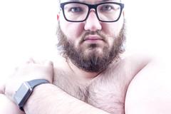 Almost 27 (MBPruitt) Tags: age uncomfortable worried apple watch bear beard cub chub portrait anxiety ugh goddammit