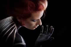 Red and lines (dandrasphoto) Tags: andras deak kovacs dorina sarkozi dora canon eos 1d mk4 iv 50mm f14 usm portrait creative redhead girl women black red piros vörös lány nő portré smink makeup interasting exinting érdekes izgalmas