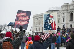Women's march against Donald Trump (Fibonacci Blue) Tags: stpaul protest march woman women demonstration event dissent feminism outcry feminist activism outrage twincities activist minnesota trump republican sign gop liberal