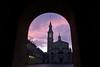 Beyond the Arch (planosdeluz) Tags: sunset purple universidad gijon architecture arch tower canon 60d tamron 1750mm laboral
