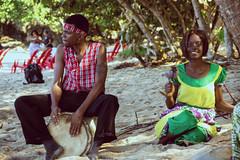 bamboo beach (Ennev) Tags: 2017 caribbean celebritycruises dancer jamaica january musician jm