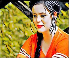 (Cliff Michaels) Tags: nikon prisma photoshop pse9 girl face portrait beauty model headshot