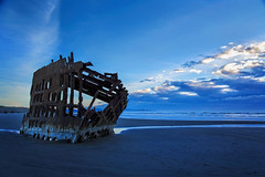 Life is a Shipwreck! (Synapped) Tags: ship shipwreck peter iredale oregon coast ocean pacific blue hour fort stevens clatsop