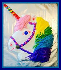 Unicorn rainbow cake by Amber, Triad Area, NC, www.birthdaycakes4free.com