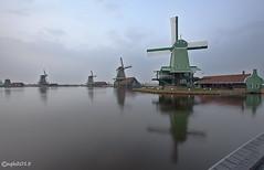Zaanse Schans. (alamsterdam) Tags: reflections mills zaanseschans musea nearamsterdam