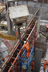Concrete Pour (McTumshie) Tags: england london concrete construction unitedkingdom crane moorgate development pouring rebar londonist crossrail shuttering 13july2015