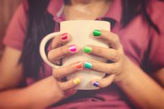 Paint your life (gags9999) Tags: art cup coffee colors colorful coffeecup nails coffeetime nailpaint