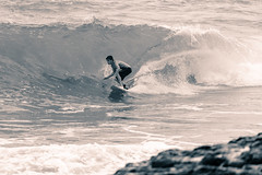 Speedy... (nclcocco) Tags: ocean blackandwhite usa monochrome canon hawaii waves secretbeach july kauai surfers hi 2014 pacificislands surfboarding splittoning 5dmkiii canon5dmarkiii 5dmarkiii nclcocco nicolacocco