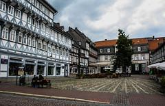 Enchanting (asyouwalkalong) Tags: architecture germany deutschland architektur halftimbered townsquare goslar fachwerk niedersachsen lowersaxony schuhhof