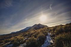 Antelope Island (tylerjacobs) Tags: antelopeisland utah saltlakecity frary peak hiking nature sonya6000 samyangrokinon12mmf20 mountains mountain snow winter cloudy golden hour