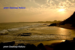 SUN-KISSED-BEACH-RECEDING-WATERS5 (prem swaroop) Tags: longexposure sunset beachbeaches beaches aptourism vizagbeach travelindia visakhapatnambeach hillslope waves surf seafoam ocenfoam retreat backflow rocks sun cumulusclouds
