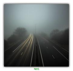 GOING NOWHERE (régisa) Tags: therapy mist brouillard brume autoroute motorway a16 leffrinckoucke village d79 estuaires autoroutedesestuaires monalisatwins elitegalleryaoi bestcapturesaoi aoi