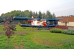 Poland-01423 - Antonov An-2 Biplane (archer10 (Dennis) 88M Views) Tags: auschwitz krakow poland globus sony a6300 ilce6300 18200mm 1650mm mirrorless free freepicture archer10 dennis jarvis dennisgjarvis dennisjarvis iamcanadian novascotia canada antonovan2 biplane blue white red russian