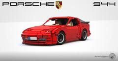 Porsche 944 - 16-wide - Lego poster (Sir.Manperson) Tags: lego porsche 944 moc ldd render replica worldcars
