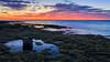 Ricketts Point (djryan78) Tags: rock victoria reflection landscape sunset sigma dslr bay pool seaweed outdoor canon canon6d 24105 dusk melbourne 6d clouds tide australia portphillip sigma24105 cloud rickettspoint beaumaris sky seascape portphillipbay water lowtide bluehour au