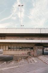 under the bridge (flyerkat_L.E.) Tags: reichsbrücke vienna city film analog nikon fm2 fujisuperia400 35mm