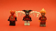 The Blood of Angry Men (th_squirrel) Tags: lego dc comics minifigs minifig minifigures minifigure reverse flash red lanterns bleez daniel west firestorm