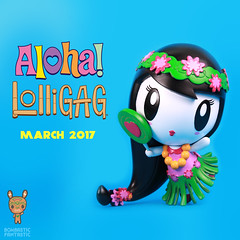 Aloha! Lolligag - Release Date: March 25, 2017 (Lolligag World) Tags: lolligag aloha vinyl toy arttoy hawaii