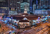 Lau Pa Sat  老巴刹美食中心 (mikemikecat) Tags: laupasat 老巴刹美食中心 telok ayer market raffles quay sonya7r a7r mikemikecat sony building colorful blue 建築 建築物 建築結構 基礎建設 城市 夜景 nightscape urban 戶外 建築大樓 cityscapes carlzeiss twilight 天際線 skyline rooftop 路 lighttrails 維多利亞建築 victorianstyle