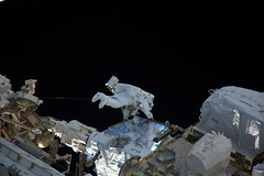 Holding on (europeanspaceagency) Tags: humanspaceflight exploration imageoftheweek esa nasa iss thomaspesquet spacewalk eva battery