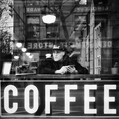 COFFEE (. Jianwei .) Tags: street vancouver hastingsst coffee urban man window a7