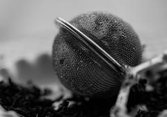 Enmeshed (Captured Heart) Tags: tea loosetea mesh infuser blackandwhite macromondays contraption