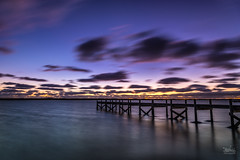 sugars beach (Macrow Photography) Tags: sunset beach southaustralia ocean coorong jetty pier rocks longexposure nikon sigma hoya manfrotto