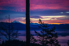 Quest the Crest (West Leigh) Tags: sunset sunrise pink gold mountains orcasisland sanjaun forest trees tranquil travel explore experience dream discover wanderlust wander washington pacificnorthwest peaceful landscape pugetsound water nature naturalbeauty mtbaker hike morning dawn