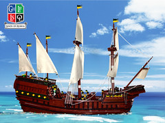 Off the Edge of the Map (aardwolf_83) Tags: ocean sea island sailing ship lego map spirit bricks sails vessel serena mast hull build lor rigging moc abner roawia lenfald