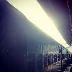 Indian train  (kshitizz8) Tags: blue windows india train indian carrier uploaded:by=instagram