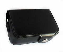 MegaGear Protective Leather Black Camera Case, For Canon S110, SX260, SX280 / Panasonic ZS25, ZS20, ZS7, LX7 / Nikon Coolpix P330, P310 / Sony DSC-HX55, DSC-HX30V, DSC-HX-50V / Sony RX100, Rx100 II (ShoppingSecurelyOnline) Tags: zs20 sx260 zs7 dschx30v rx100ii dschx50vsonyrx100 forcanons110 lx7nikoncoolpixp330 megagearprotectiveleatherblackcameracase p310sonydschx55 sx280panasoniczs25