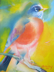 America's Robin - July 4th 2015 (Stephen B. Whatley) Tags: summer usa ny newyork bird art love beauty robin birds america woodland hope james us peace time contemporaryart modernart icon expressionism july4th wonderland independenceday ornithology americanrobin oilpainting thrush towerhill 4thjuly songbirds timemagazine gardenbirds northamericanbirds blueribbonwinner cliftonpark whatley cliftonparkny abigfave goldstaraward stephenbwhatley towerhillunderpass cliftonparknewyork jameskrajewski artiststephenbwhatley stephenwhatley whatleyartist toweroflondonpaintings toweroflondonartist 4thjuly2015 july4th2015