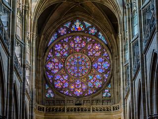 Prague Vitus Cathedral/ Veitsdom in Prag-the light in a gothic church