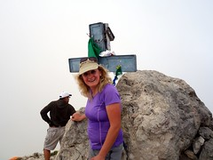 """Edita on the summit of Corno Grande • <a style=""""font-size:0.8em;"""" href=""""http://www.flickr.com/photos/41849531@N04/19720631416/"""" target=""""_blank"""">View on Flickr</a>"""