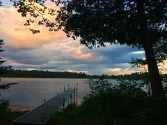 tonight's sunset 7-17-15 @The WBR (Ma Wolff) Tags: sunset sky lake up landscape michigan greatlakes upper peninsula freshwater michiganlandscape thewbr westbranchresort