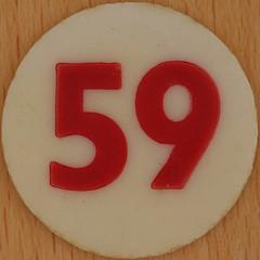 Bingo Number 59 (Leo Reynolds) Tags: xleol30x squaredcircle number numberbingo xsquarex bingo lotto loto houseyhousey housey housie housiehousie numberset 59 sqset120 50s canon eos 40d xx2015xx xxtensxx sqset