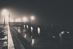 Venice and Foggy (gianlucasimonella) Tags: venezia venice foggy nebbia night color luce light passion passsione love beautiful italia italy freddo cold water acqua reflcetion riflessi gondolas archittetura coloe nikon nikond750